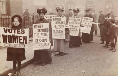 The Museum of London Suffragette Exhibit